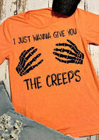 Halloween Skeleton Hand Give You The Creeps T-Shirt