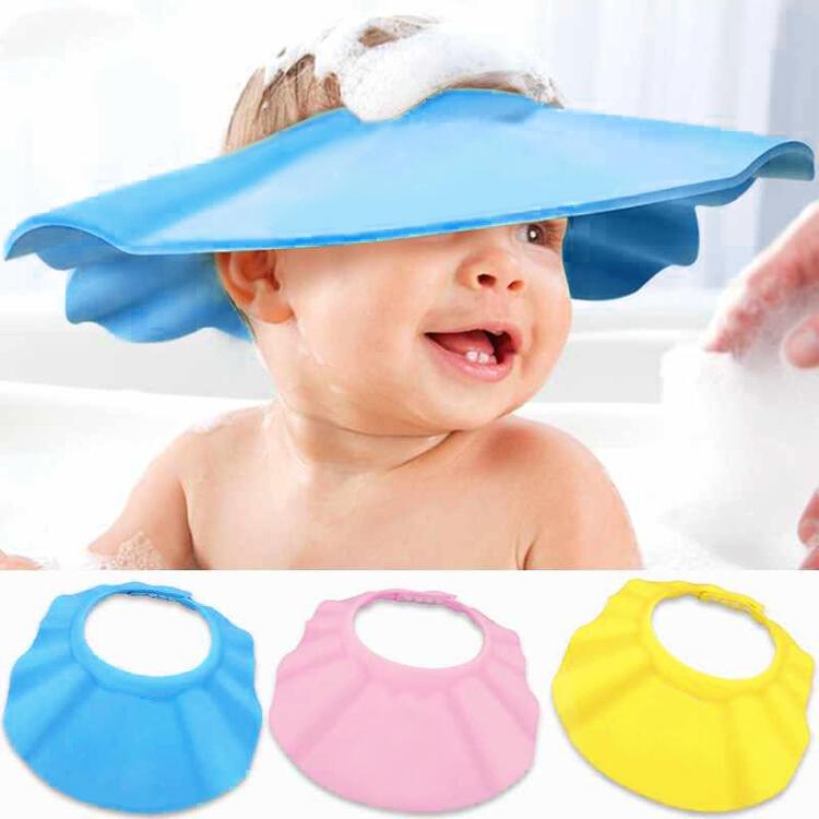 3Pcs Adjustable Soft Kids Bathing Shower Hat