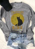 Halloween Hocus Pocus Thackery Binx Pullover Sweatshirt