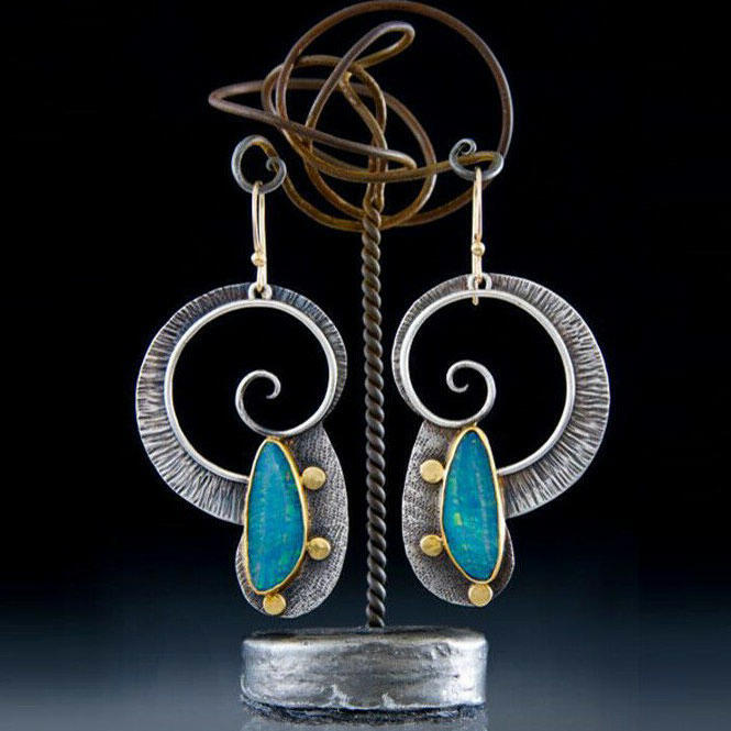 Creative Spiral Hollow Out Alloy Earrings фото