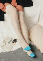 Hollow Out Over Knee Knitted Socks