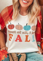 Thanksgiving Most Of All I Love Fall Pumpkin T-Shirt