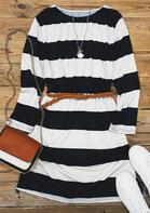 Striped Long Sleeve Mini Dress