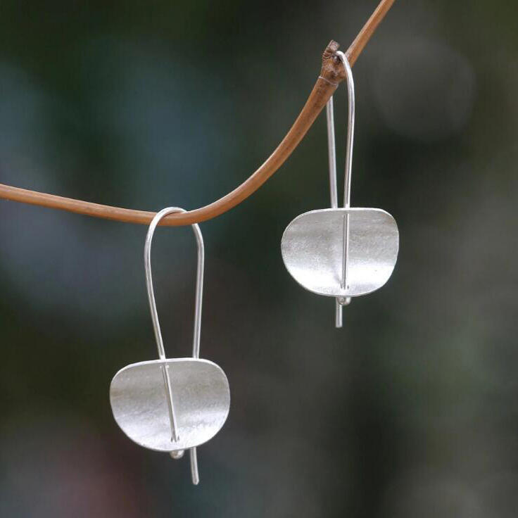 Vintage Alloy Concave Earrings