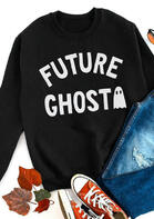 Halloween Future Ghost O-Neck Pullover Sweatshirt