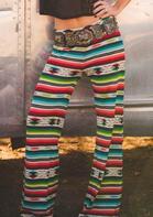 Serape Striped Wide Leg Pants without Belt