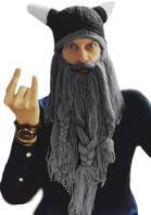 Halloween Winter Warm And Windproof Viking Beard Beanie Hat