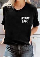 Halloween Spooky Babe O-Neck T-Shirt
