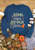 Autumn Leaves & Pumpkin Please T-Shirt