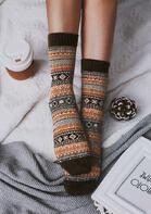 Vintage Geometric Casual Warm Socks