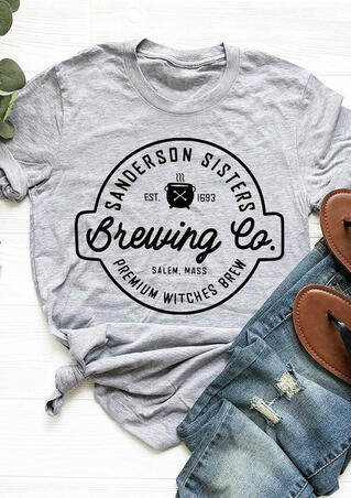 Halloween Sanderson Sister Brewing Co T-Shirt Tee - Gray