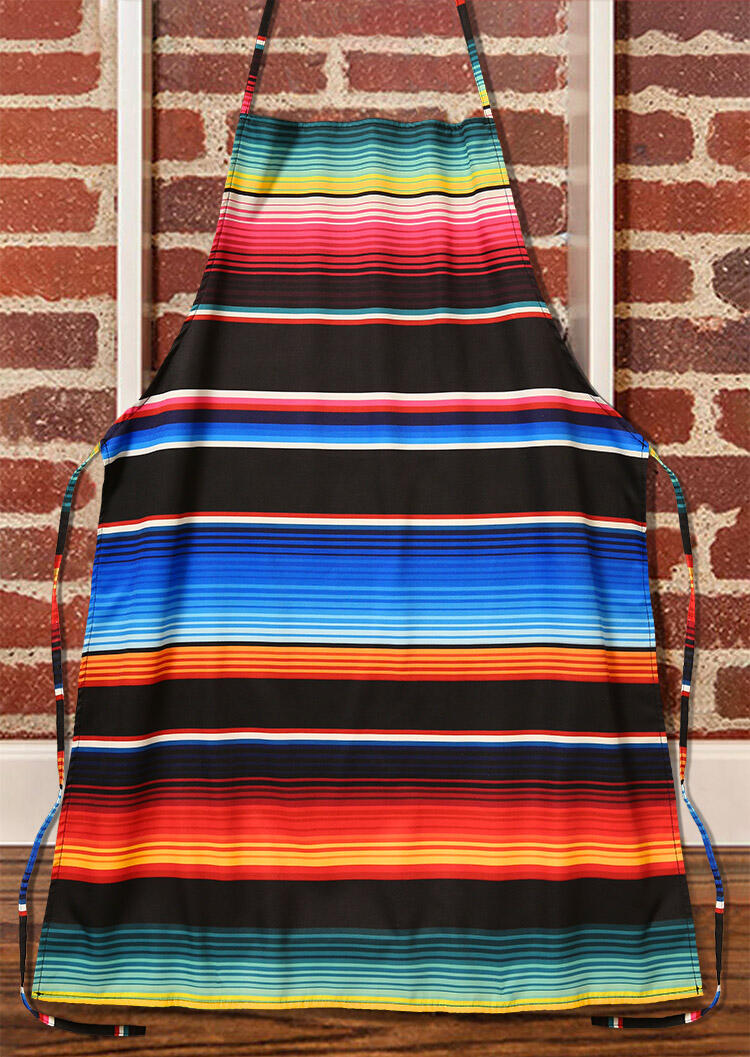 Fairyseason coupon: Serape Striped Tie Kitchen Bib Apron