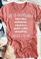 Pumpkin Slogan Letter O-Neck T-Shirt