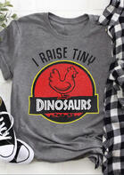 I Raise Tiny Dinosaurs Chicken T-Shirt