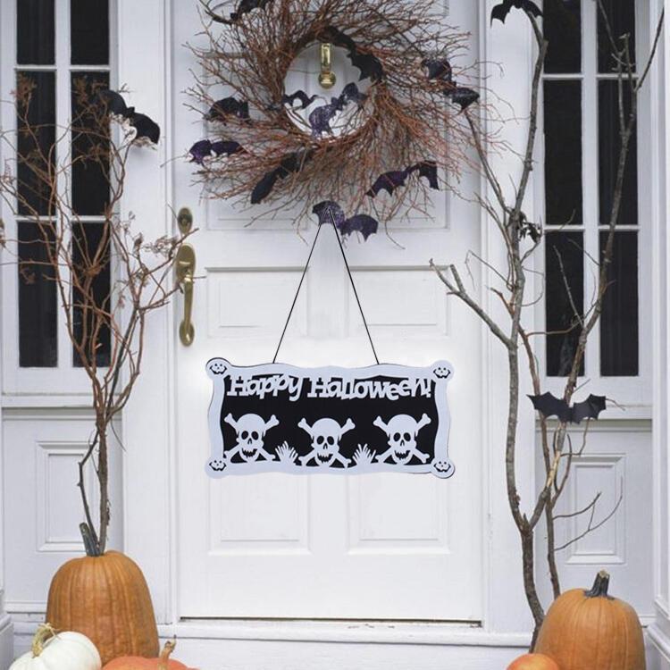 Halloween Pumpkin Skull Spider Door Hanging Decoration