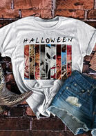 Halloween Horror Movie Villains Graphic T-Shirt