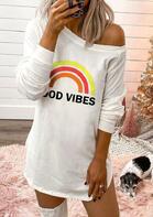 Good Vibes Rainbow Mini Dress
