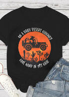Cactus Truck On A Dark Desert Highway T-Shirt
