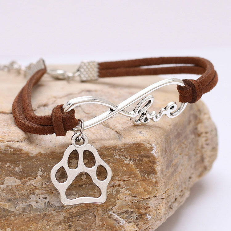 Fairyseason coupon: Hollow Out Paw Pendant Love Rope Bracelet