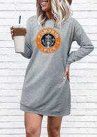 Pumpkin Spice Star Girl Mini Sweatshirt Dress