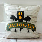Halloween Pumpkin Ghost Pillowcase without Pillow