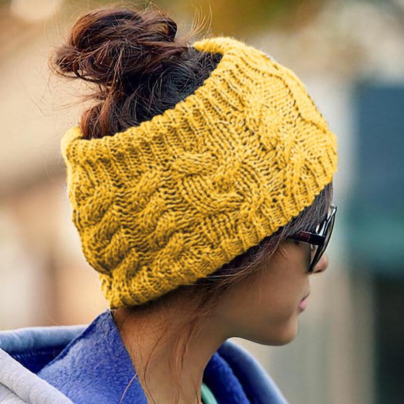 Winter Warm Empty Top Beanie Knitted Hat