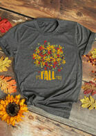 Thanksgiving Maple Leaf It's Fall T-Shirt