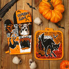 2Pcs Halloween Skull Spider Insulated Glove And Coaster Set