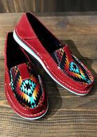 Aztec Geometric Slip On Canvas Sneakers