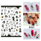 Halloween Pumpkin Skull Ghost Spider Nail Art Sticker