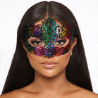 Halloween Party Masquerade Lace Floral Eye Veil