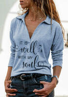 It Is Well With My Soul V-Neck Blouse