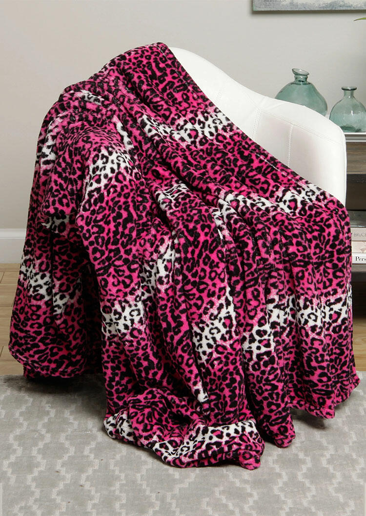 Colorful Leopard Microplush Warm Blanket