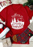 Christmas Walking In A Winter Wonderland T-Shirt