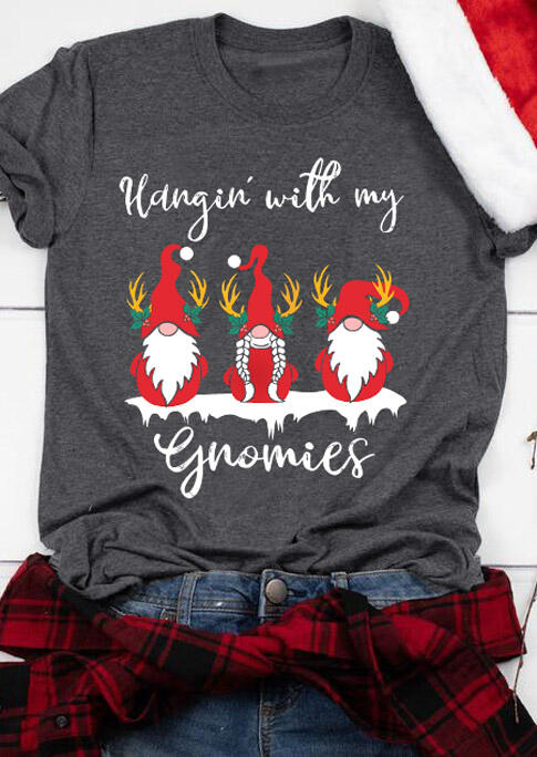 Fairyseason coupon: Hangin' with My Gnomies T-Shirt Tee - Gray