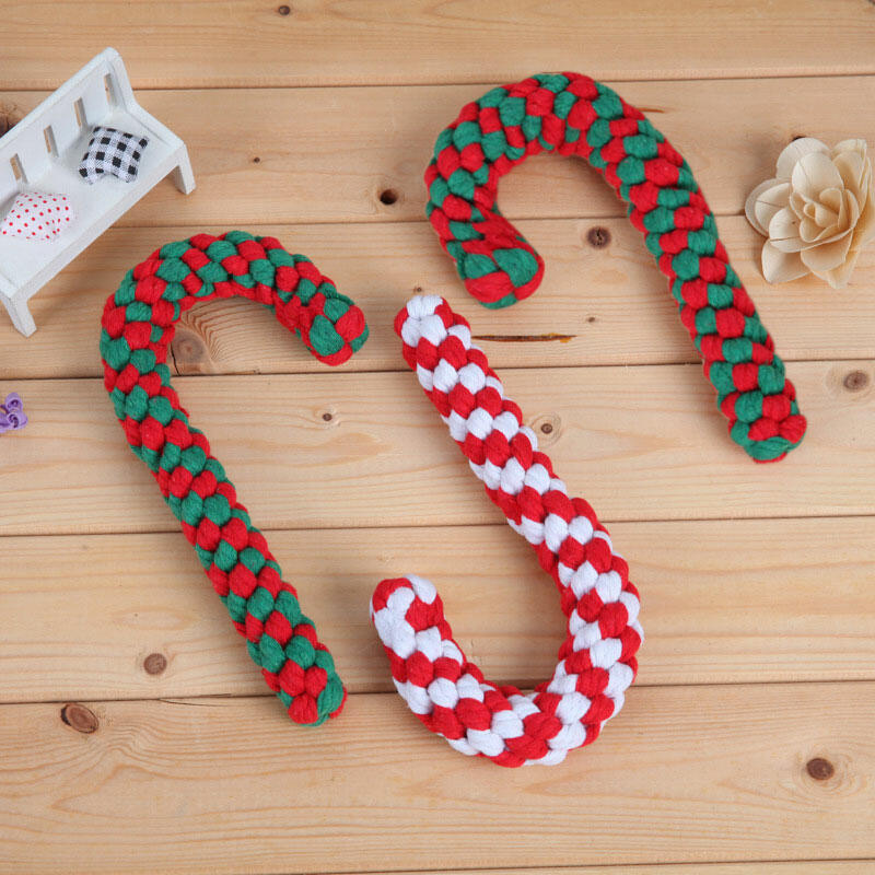 Christmas Candy Cane Pet Chew Toy