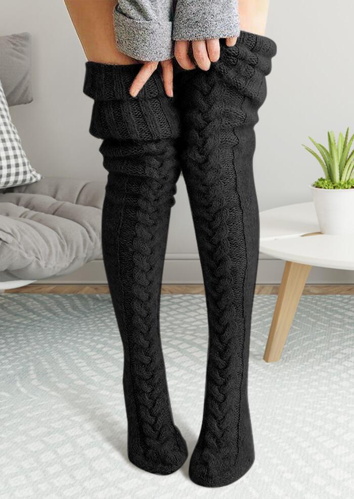 Soft Warm Thigh-High Socks