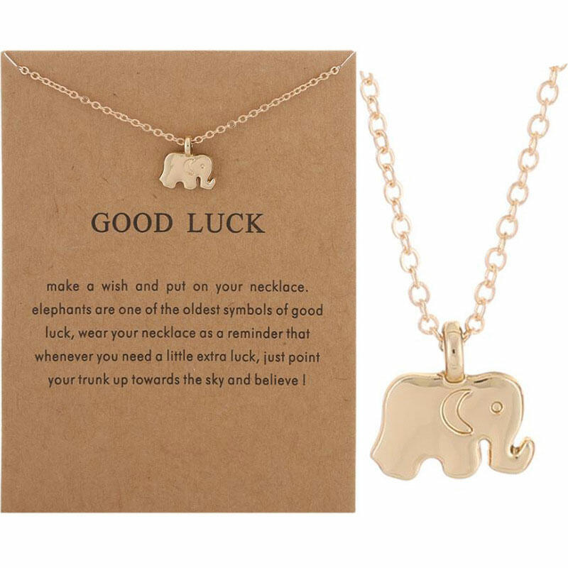 Elephant Alloy Adjustable Pendant Necklace