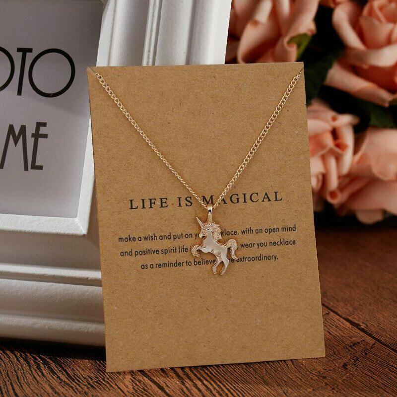 Unicorn Alloy Adjustable Pendant Necklace