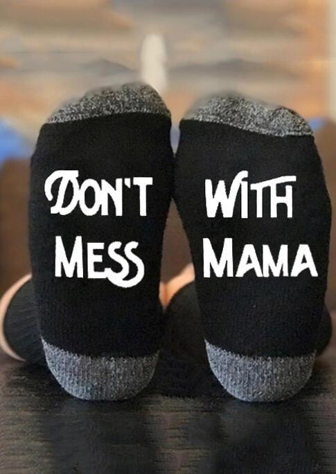 Don't Mess With Mama Warm Socks - Black, 487287