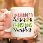 Gingerbread Kisses And Christmas Wishes Mug