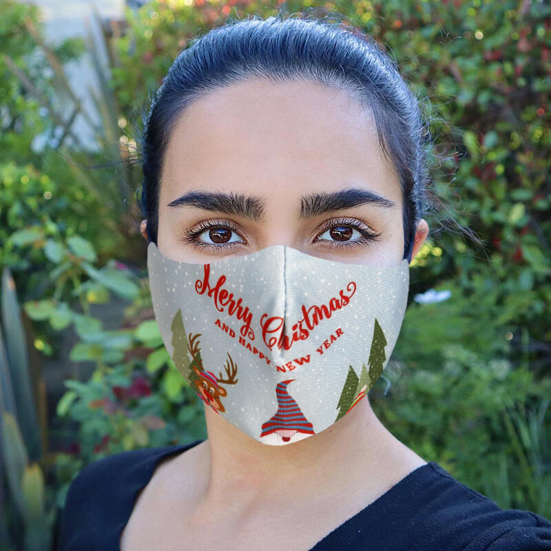 Merry Christmas Reusable Windproof Mouth Shield