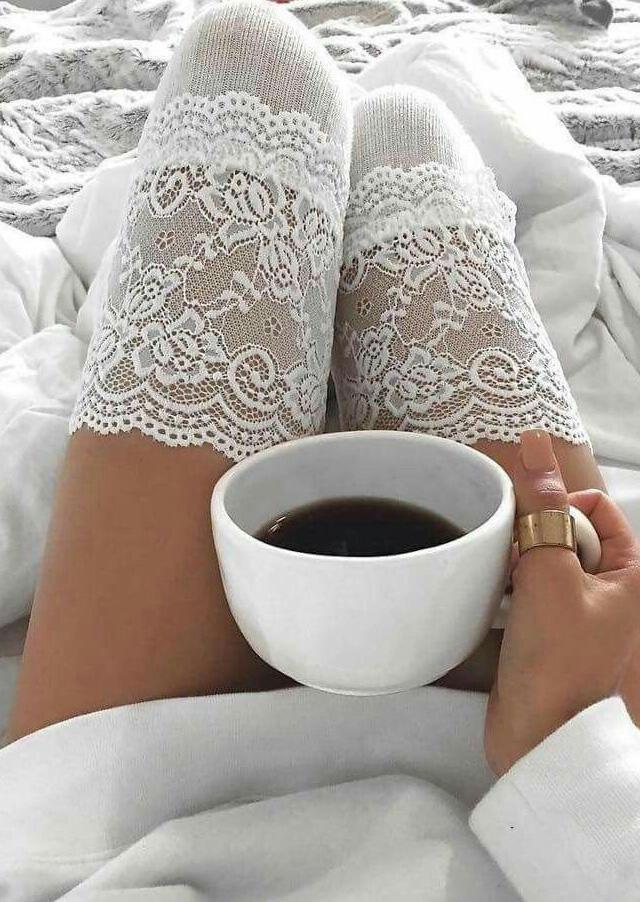 FairySeason / Lace Splicing Thigh-High Socks