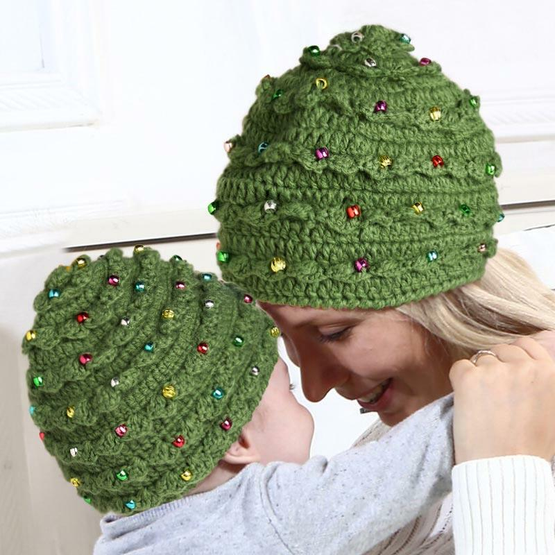 Winter Warm Crochet Pattern Christmas Tree Hat