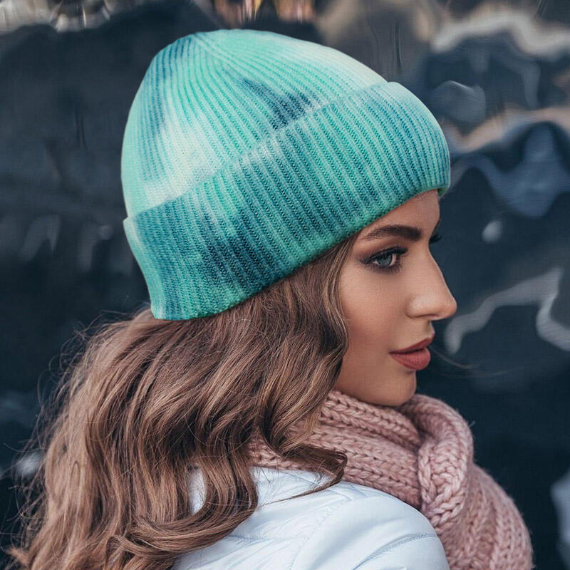 Fairyseason coupon: Tie Dye Soft Warm Knitted Beanie Hat