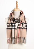 Feelily Unisex Plaid Tartan Tassel Pashmina Scarf With Gift Bag