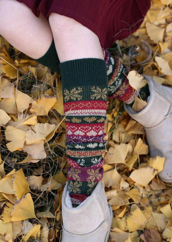 Fairyseason / Snowflake Thigh-High Socks