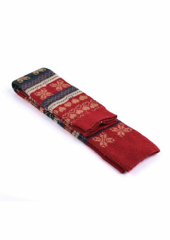 Christmas Snowflake Thigh-High Socks