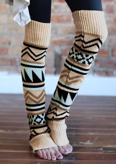 Fairyseason / Winter Geometric Thigh-High Leg Warmers Socks