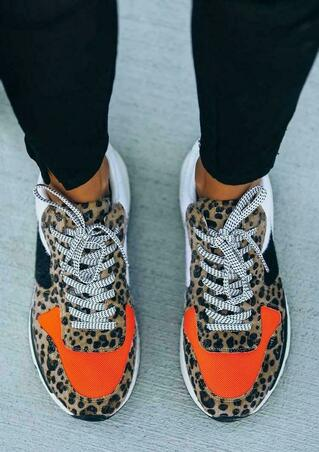 Spice Leopard Running Sole Sneakers